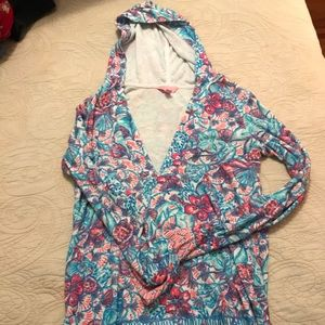 Tops - Lilly Pulitzer Terry coverup top size medium